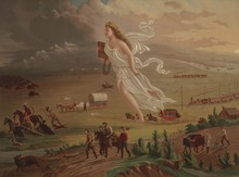 """Painted by John Gast (c.1872) """"American Progress"""" represents the modernization of the new west."""