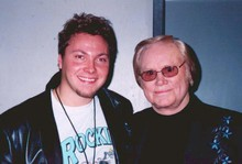 Bert Sperling, who produced the record, with George Jones in 2003.