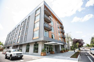 Portland City Council on Wednesday, June 13, 2018, will consider buying this nearly finished apartment building for $14.3 million with affordable housing bond funds.