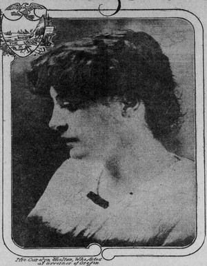 A portrait of Carolyn B. Shelton published along with a profile of her in the Jan. 11, 1914, edition of The Sunday Oregonian.