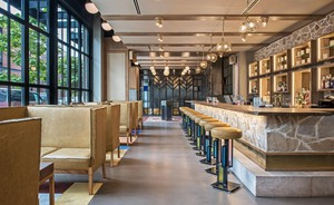 Prairie School, panelist Jim Meehan's new bar in Chicago, takes its design inspiration from architect Frank Lloyd Wright.