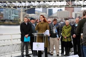 Susan Bladholm is the founder and president of the nonprofit Friends of Frog Ferry. The organization is proposing a passenger ferry service to run along the Columbia and Willamette rivers.