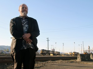 """After nearly 40 years of railroading, Mark Vehrencamp says he's always stunned by what the job let shim see. """"I'll never forget the first time I took the Cascade line. In wintertime it's just gorgeous."""" His musical career finds him playing in dozens of ensembles in Portland and Vancouver."""