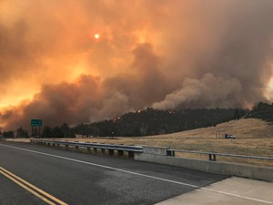 The Klamathon Fire which started July 5, 2018, burns its way along the California-Oregon border.