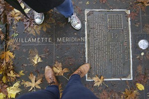 The Willamette Stone, located in a small park off Portland's Skyline Boulevard, marks a key milestone in the colonization of Oregon.