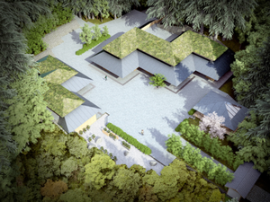Starchitect Kengo Kuma's design for the new Japanese Garden's Cultural Crossing.