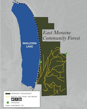 The East Moraine property at Oregon's Wallowa Lake will have public access and non-motorized recreational opportunities under a management plan that is being developed.