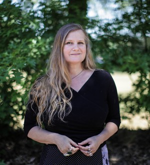 """Lidia Yuknavitch came by the OPB studios for an interview with State of Wonder about her new novel, """"The Small Backs of Children""""."""