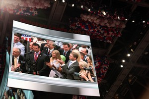 Donald Trump Jr. gives his father the votes necessary to put him over the top at the Republican National Convention in Cleveland on July 19, 2016.