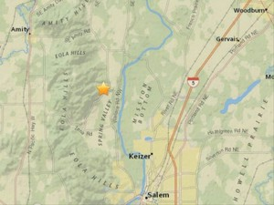 A magnitude 2.9 earthquake was recorded north of Keizer Thursday, June 1, 2017.