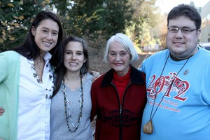Mia Prickett, Erin Bernando, Marilyn Portwood, Eric Bernando (left to right) are among the 66 tribal members who were disenrolled from the Confederated Tribes of Grand Ronde. A tribal appeals court overturned trbie's 2013 decision to disenroll descendants of Chief Tumulth.