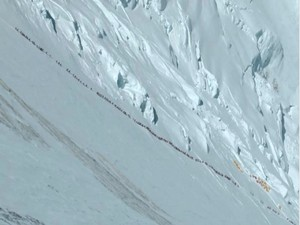 Waste has become a huge issue on Mount Everest, as many climbers try to reach the summit every year.