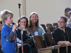 """An eight year-old named """"Jake"""" testified to the Portland School Board in April 2012 in defense of Outdoor School."""