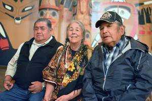 Wilbur Slockish, Carol Logan, and Johnny Jackson say their tribes can no longer practice religious ceremonies at a site near Mount Hood because it was destroyed in an effort to expand Highway 26.