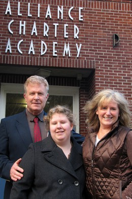 The Grady family - Bill, Brianna, and Kathy (left to right) - hope to bring a learning disabilities program to Alliance Charter Academy.