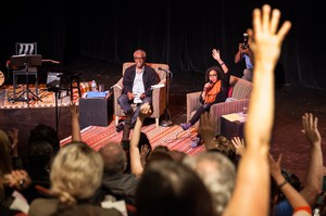 """Theater and social justice veteran Kevin Jones and actress Chantal DeGroat led a packed audience on a voyage from Jones' childhood in Jamaica, Queens to how Oregon's origins as a white utopia led to today's """"Keep Portland Weird."""""""
