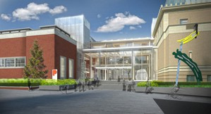 The proposed Rothko Pavilion will connect the Portland Art Museum's two free-standing buildings, creating a new entrance and space for events and galleries.