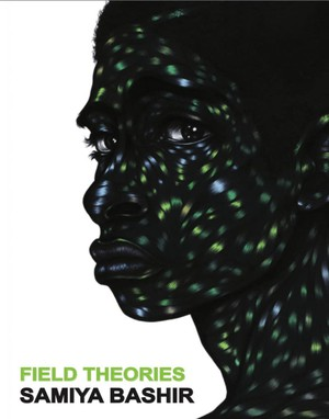 """When I saw this image, it was as if it was a fully articulated blues statement in a way that felt so exactly like what I was making that it blew me away,"" says Samiya Bashir of the image ""Lonely Chamber"" by Toyin Ojih Odutola that's now the cover of ""Field Theories."" ""The flesh is lit by these blues and greens and yellows that are bursting like light, almost as if through a fractured black body. The fracture is not a furthering of oppression, but more like a cracking through or a release, sending back all that light that's contained inside."""