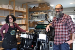 Jennifer and Josh Nusbaum. Their business, Waterknot, was one of the lucky survivors of the Towne Storage exodus.