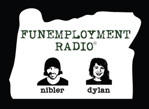 "Greg Nibler and Sarah X Dylan are the hosts of ""Funemployment Radio""."