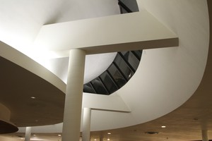 The aerial curves of the Mt. Angel Library inspire new music this week.