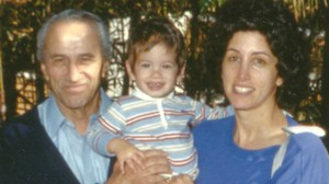 Michael Turner with his mother and grandfather. All three are stutterers.