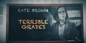 Aspot from State Solutions calls Gov. Kate Brown's record on education into question.