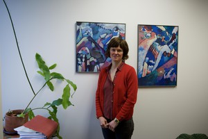 Sarah Radcliffe, an attorney with Disability Rights Oregon's Mental Health Rights Project, inside her office.