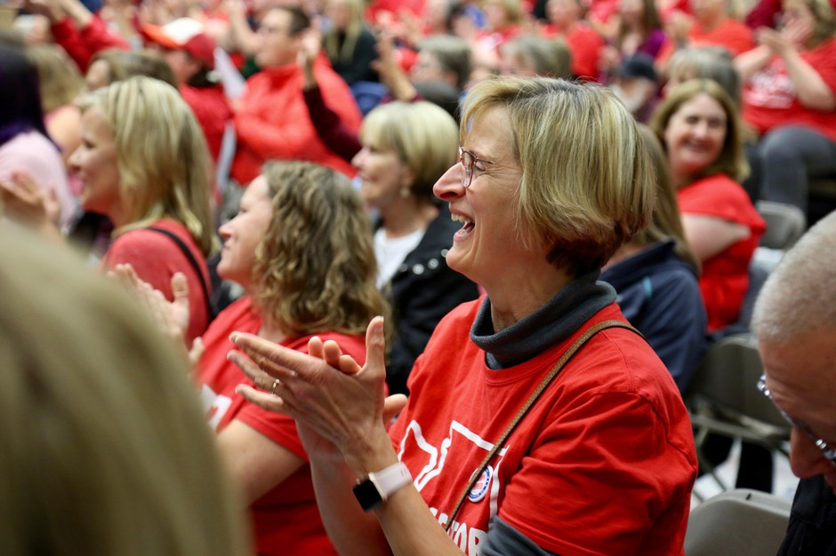 Laurie Creager, a teacher-librarian at Captain Strong Primary School, said she was ecstaticafter hearing the results of the new salary contract.