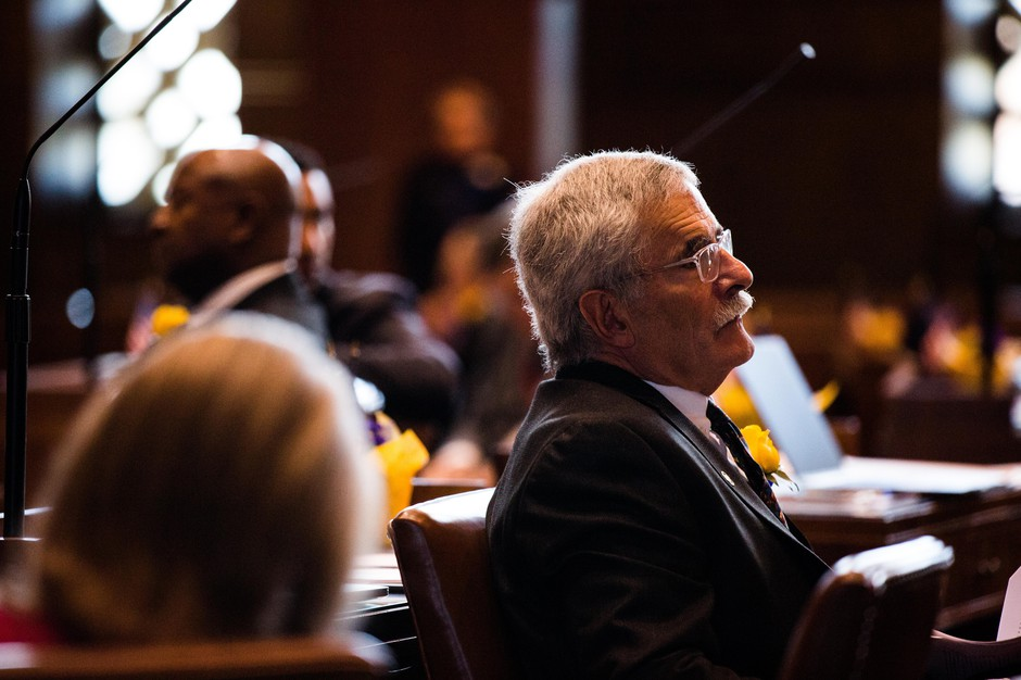 State Sen. Jeff Golden, D-Medford, listens to arguments on the floor of the Oregon Senate on Monday, Jan. 14, 2019.