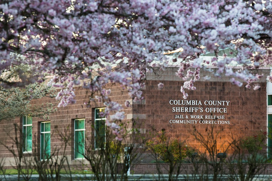 The Columbia County Jail is pictured Saturday, March 30, 2019, in St. Helens, Ore.