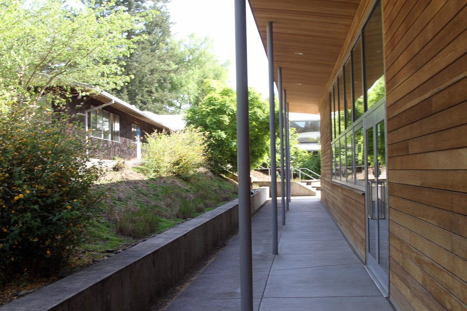 The campus of OCAC, a former orchard, was donated to OCAC by the Howard and Jean Vollum family in 1978.