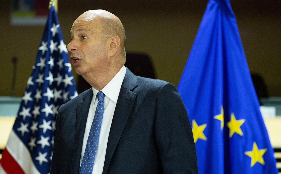 United States Ambassador to the European Union Gordon Sondland attends the High Level Forum on Small Modular Reactors at EU headquarters in Brussels, Monday, Oct. 21, 2019.