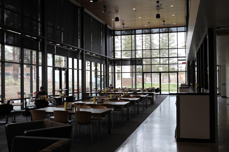 The dining hall at Oregon State University, Cascades intends to attract community members and students to the Bend campus.