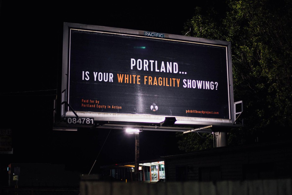 This billboard is part of the PDX Billboard Project by PDX Equity in Action.