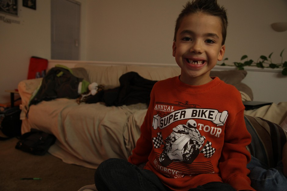 Class of 2025 student Raiden in his room as a first grader, Dec. 13, 2013.