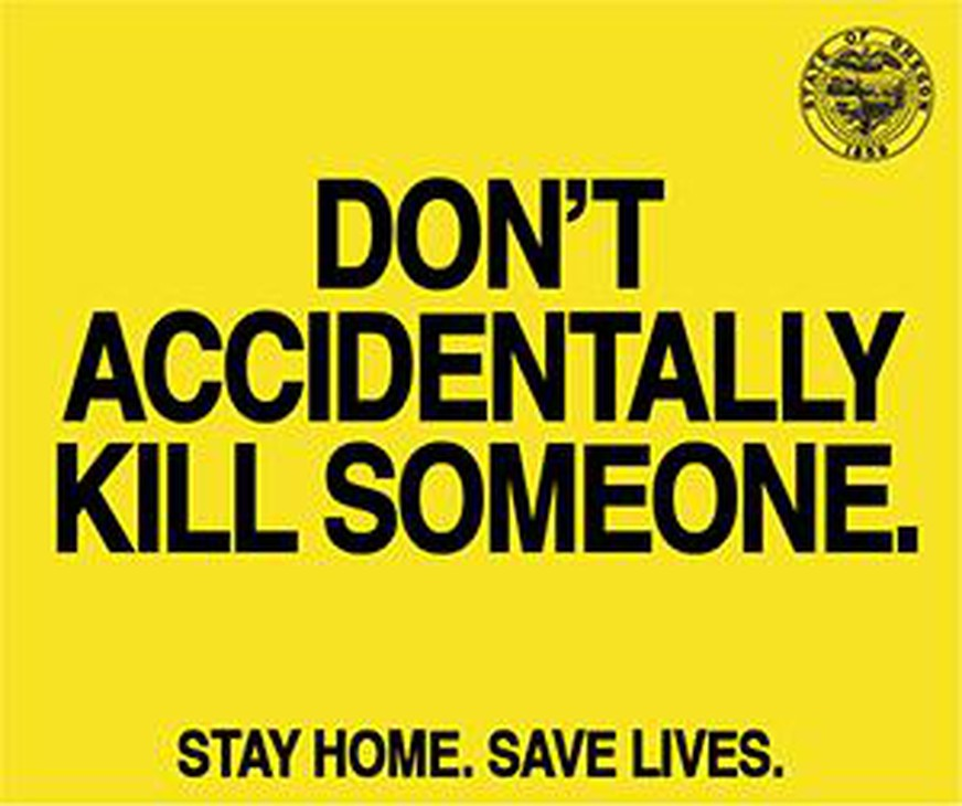 "Oregon's ""Stay Home, Save Lives"" campaign includes images designed to share on social media."