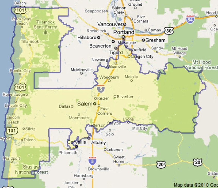Mill City Oregon Map.Oregon S 5th A Diverse And Dynamic District And Race News Opb
