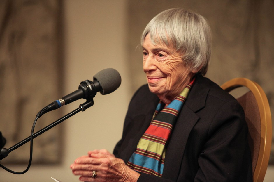 Author Ursula LeGuin speaks at Wordstock in 2015.