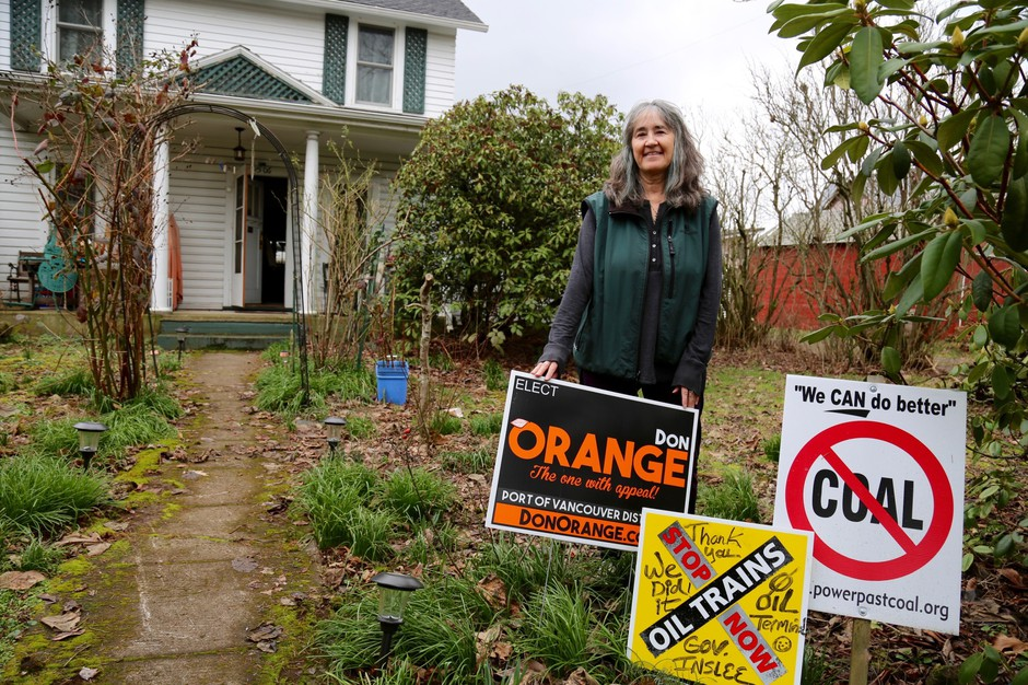 Cathryn Chudy was a volunteer for Don Orange's campaign who knocked on every door in her neighborhood's voting precinct.