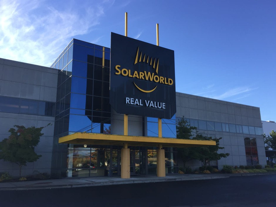 SolarWorld Americas Inc. is headquartered in Hillsboro, Oregon.