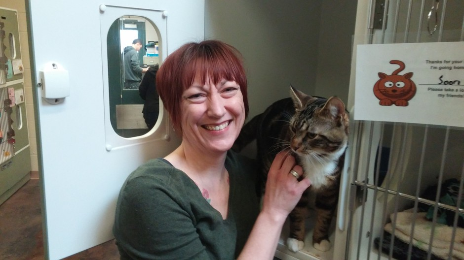 Multnomah County feline care coordinator Karen McGill runs the Kitties for Hire program, which allows people to adopt semi-feral cats to ward off rats.