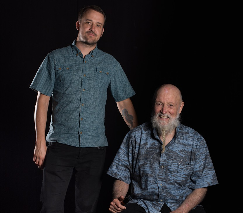 Composer and musician Terry Riley with his son, the guitarist Gyan Riley.