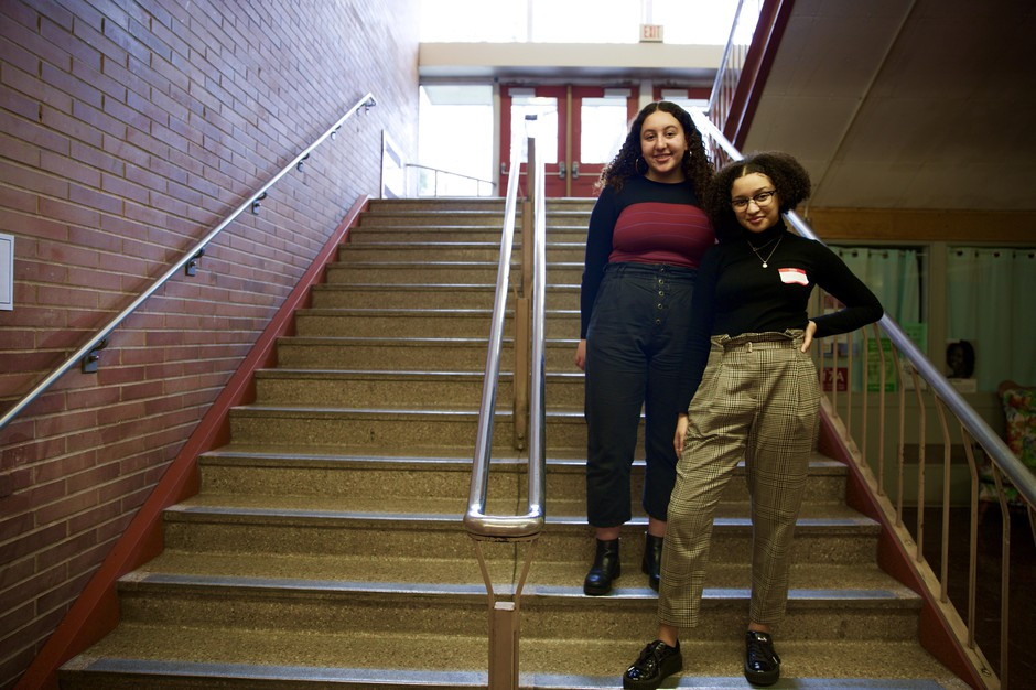 Gabrielle Cosey, 17, and Jada Commodore, 18,say their goal is to expose students to difficult topics and get them talking about social issues outside of the classroom.