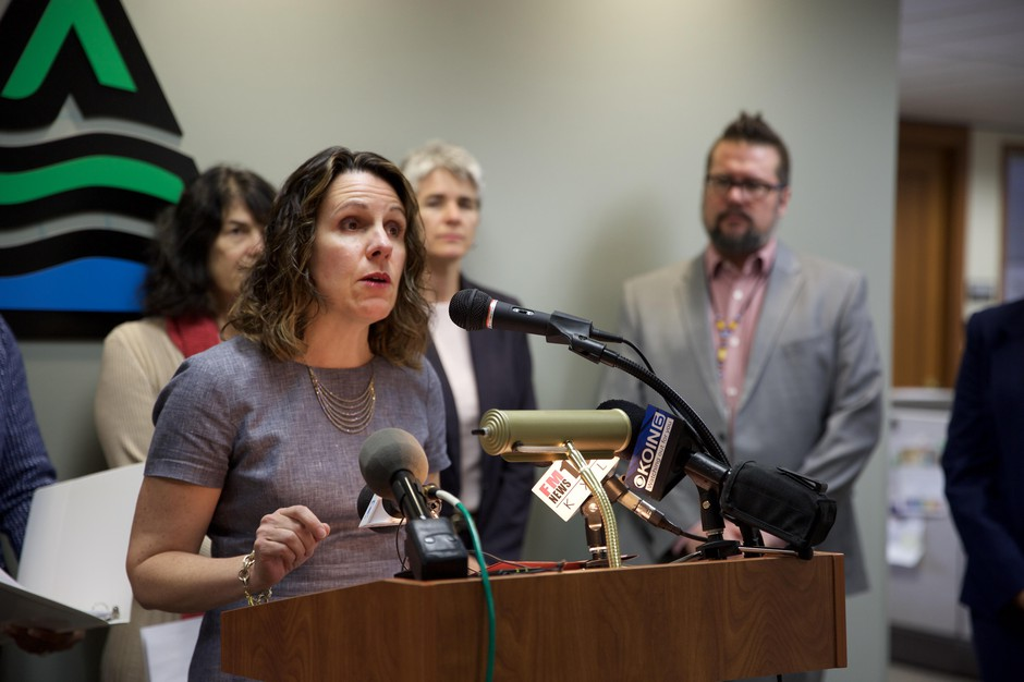 Multnomah County Chair Deborah Kafoury announces a lawsuit against the federal government over Teen Pregnancy Prevention program grant criteria.