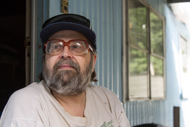 """Resident Victor Johanson has helped lead the effort to save the park. """"What we're trying to fight for is, there needs to be legitimate low-income housing for people,"""" he says."""