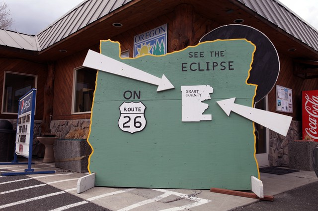 Nearby Grant County has turned its Chamber of Commerce in John Day into an eclipse clearing house.