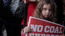 About a thousand people of all ages attended the coal export hearing in Mt. Vernon, Wash. in November.